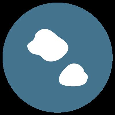 Uneven skin tone blue icon